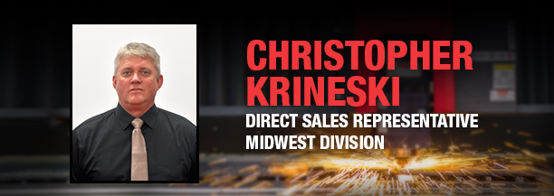 MC Machinery welcomes Christopher Krineski as Midwest sales representative